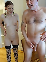 Young lady is masturbating